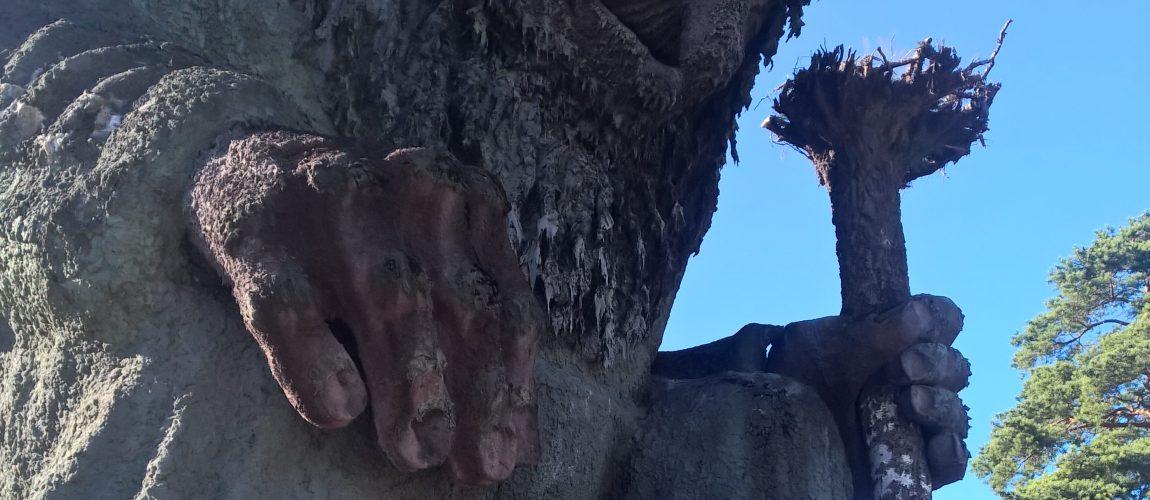 Giocando con i Troll all'Hunderfossen Familiepark